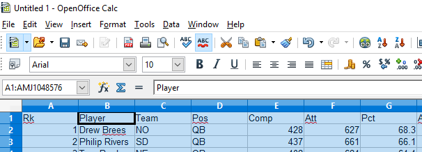 formatting exercise excel