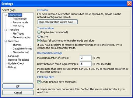 Using FileZilla to Access Panther